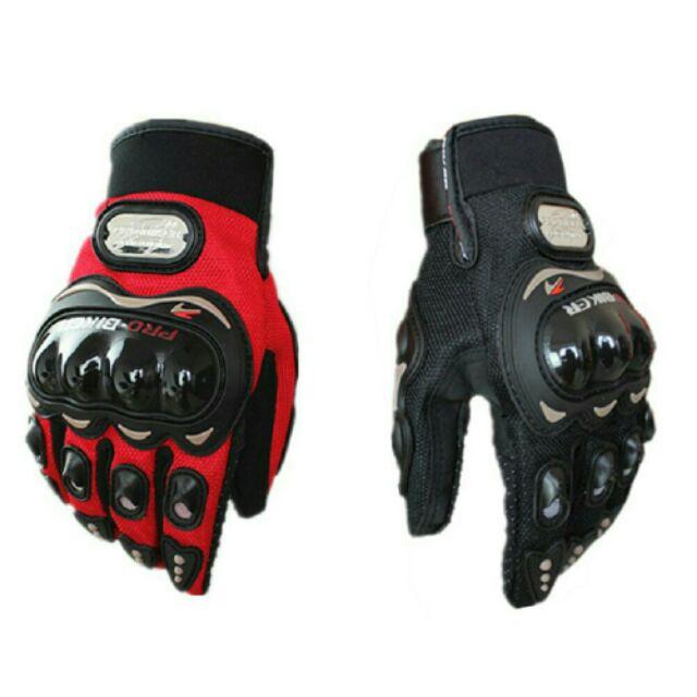 [top đồ phượt rẻ] Găng tay phượt probiker GÙ NHỰA DÀI bảo vệ tay