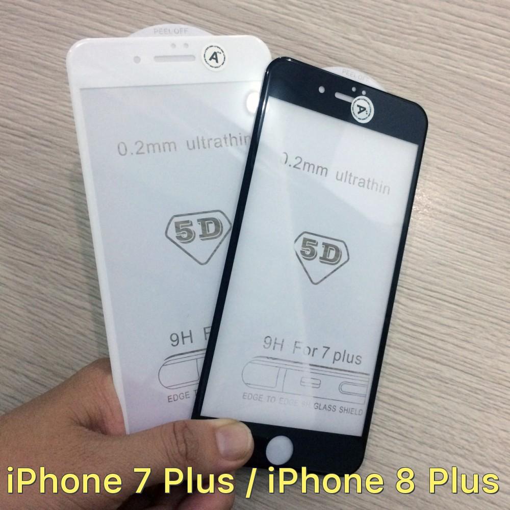 Dán cường lực 6D siêu mỏng full màn hình cho iPhone 7 Plus / iPhone 8 Plus