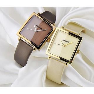 Đồng hồ nữ SHEEDER mặt vuông dây da cao cấp size 36mm thumbnail