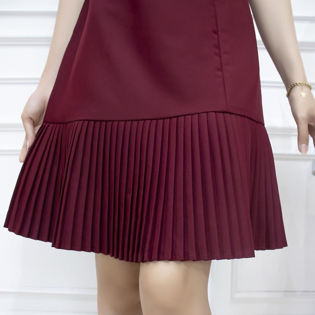 Mặc gì đẹp: Sang trọng với [Mã INCU50 giảm 50k đơn 250k] Đầm công sở thiết kế trung niên AMYRA - Váy dáng suông dập li đuôi cá cao cấp cho mẹ DA077