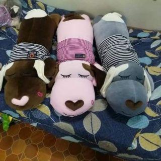 Gấu bông Gối ôm, Chó dài cao cấp – Kèm áo size 1m2