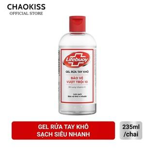 Gel rửa tay khô sạch siêu nhanh Lifebuoy bảo vệ vượt trội chai nắp 235ml thumbnail