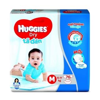 Tã Dán Huggies M 76 Miếng (6-11kg) – Tã Dán Huggies Cho Bé