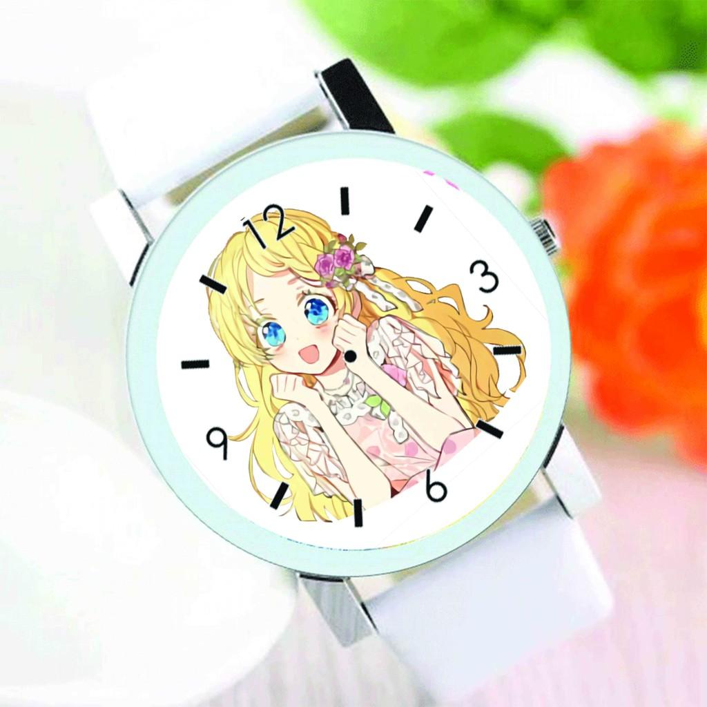 Đồng hồ đeo tay nam nữ in hình MỘT NGÀY NỌ TÔI BỖNG TRỞ THÀNH CÔNG CHÚA manhua anime chibi thời trang dễ thương độc đáo