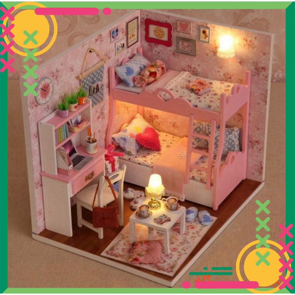 [FREE SHIP] [Chính hãng] Mô hình nhà gỗ DIY Căn phòng bé gái – Đồ chơi ghép phòng ch