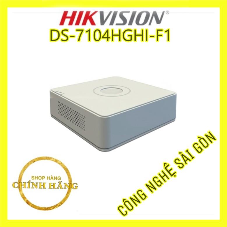Đầu ghi Hikvision 4 kênh model DS-7104HGHI-F1 , đầu ghi hikvision 7104hghi