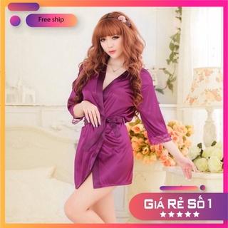 Áo ngủ - váy ngủ nữ gợi cảm - áo choàng ngủ nữ N5 thumbnail