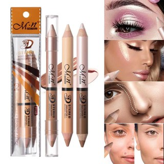 MENOW Double Head Highlighting Shading Pencil Contour Bronzer Face Make Up Waterproof and Long Lasting Makeup Cosmetic Beauty