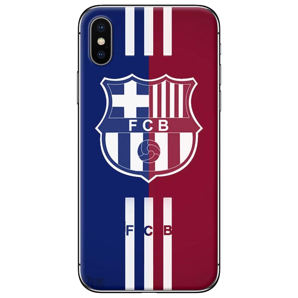 Ốp lưng iPhone X - nhựa dẻo FCB nền đỏ xanh