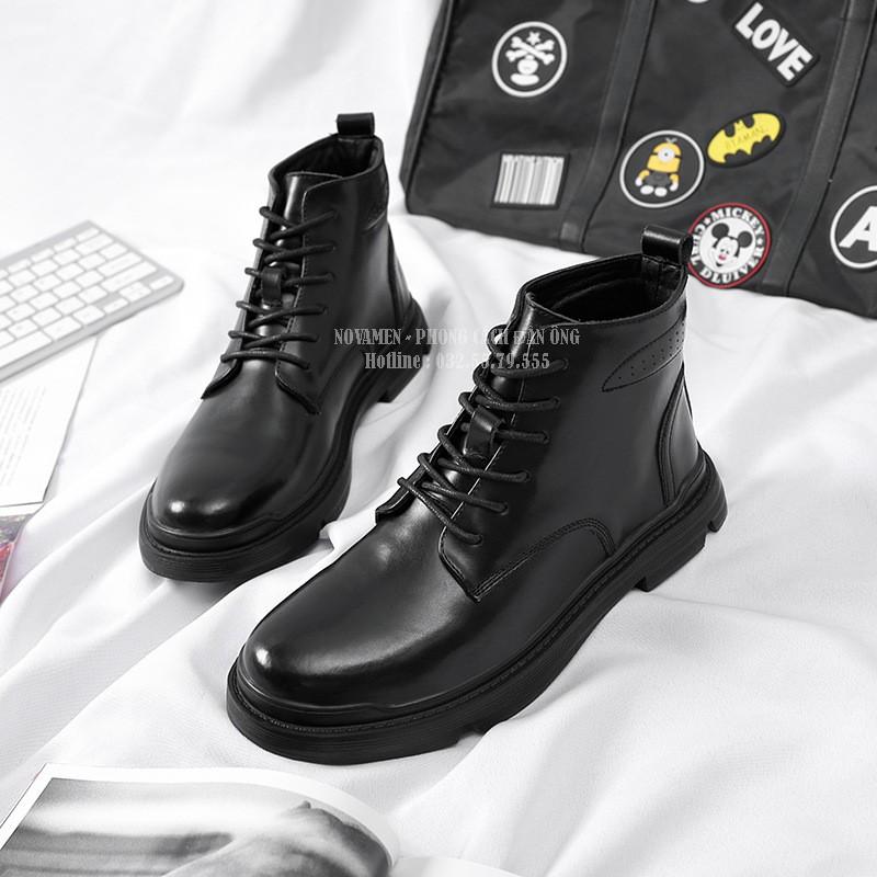 Giày da nam/ cổ cao để độn7cm / chất ngông của đàn ông