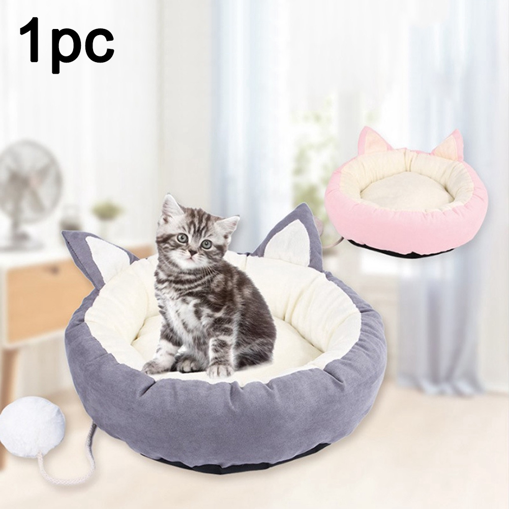 Cat Dog Detachable Home Non Slip Sleeping Two Ear Soft Pet House
