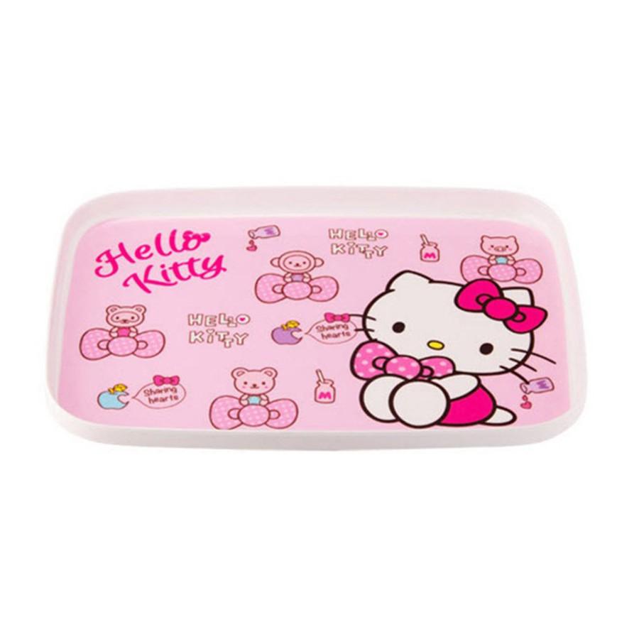 Khay bằng nhựa L&L Hello Kitty dành cho trẻ em 299*211*22MM [LKT408]