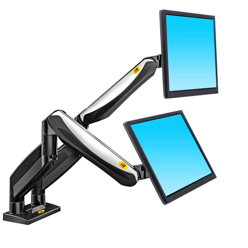 Bảng giá Giá treo 2 màn hình LCD 17-27 inch F185A, Tích hợp 2 cổng USB hàng Nhập Khẩu Phong Vũ