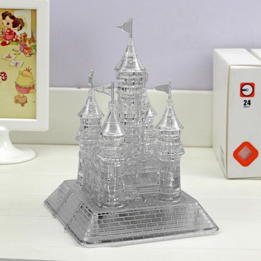 3D Music Crystal Puzzle Flashing Blocks Castle Jigsaw Toys Building DIY Decor