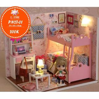 Mô hình nhà búp bê – phòng ngủ cho bé gái MOOD FOR LOVE (CÓ KÈM BÚP BÊ)