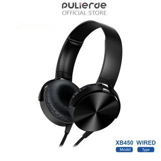 Tai nghe giá rẻ (Xả Kho) Tai Nghe Có Dây Pulierde XB450 Có Micro Khử Tiếng Ồn Giắc 3.5 Mm Gía Sỉ=Gía Lẻ