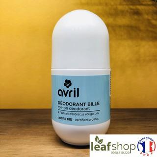 Lăn khử mùi hữu cơ hoa hibiscus Avril 50ml