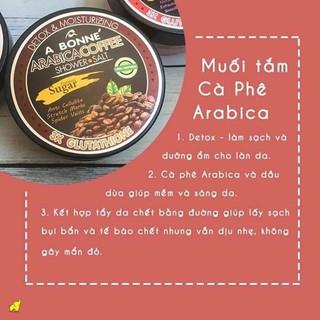 Muối Tắm Kết Hợp Đường A Bonne Cà Phê Arabica Tẩy Tế Bào Chết, Trắng Da A Bonne Arabica Coffee Shower Salt 350g (Hũ)-3