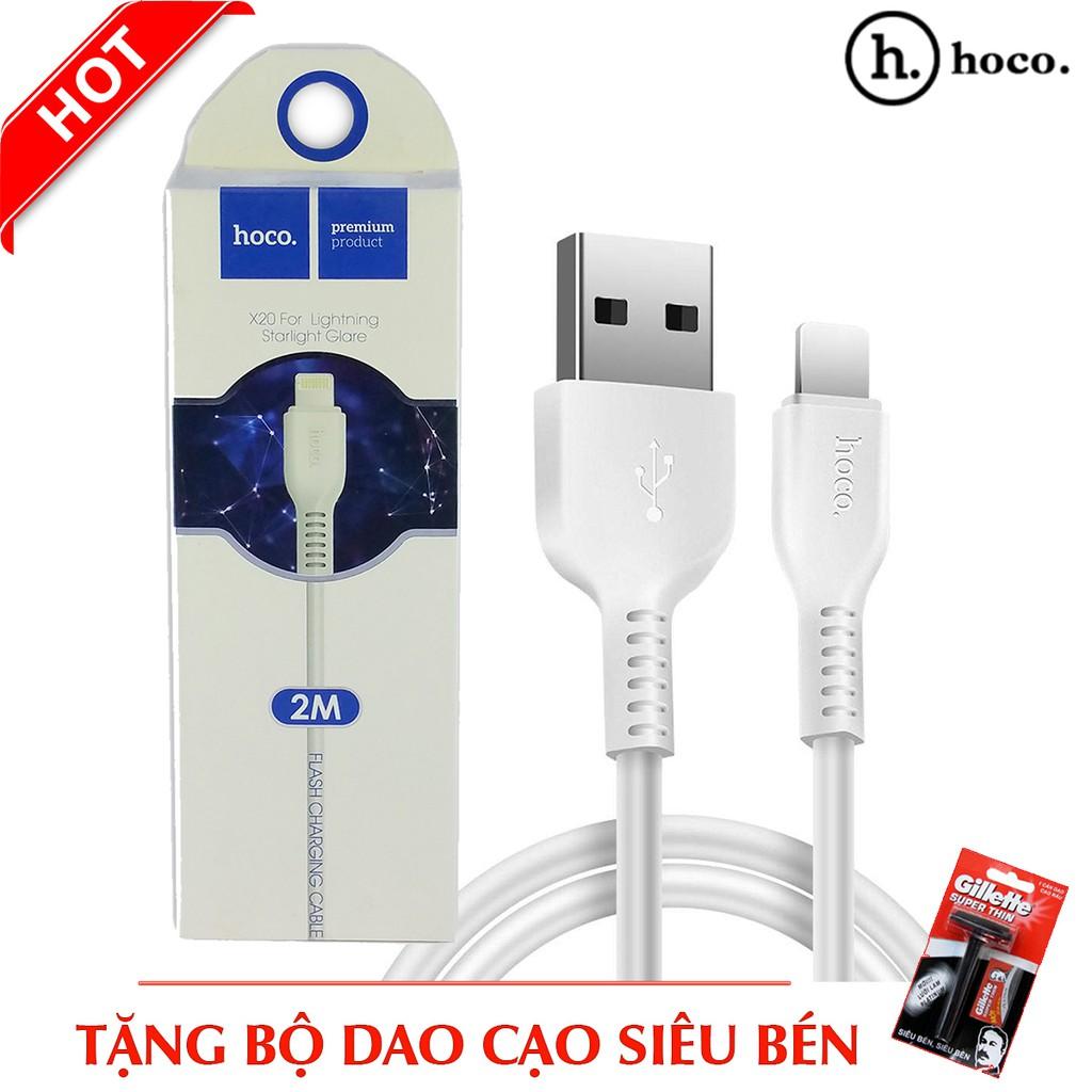 Dây cáp sạc HocoX20 dành cho iPhone - Dài 2m + Tặng bộ cạo râu siêu bén - 2961802 , 1290703275 , 322_1290703275 , 100000 , Day-cap-sac-HocoX20-danh-cho-iPhone-Dai-2m-Tang-bo-cao-rau-sieu-ben-322_1290703275 , shopee.vn , Dây cáp sạc HocoX20 dành cho iPhone - Dài 2m + Tặng bộ cạo râu siêu bén