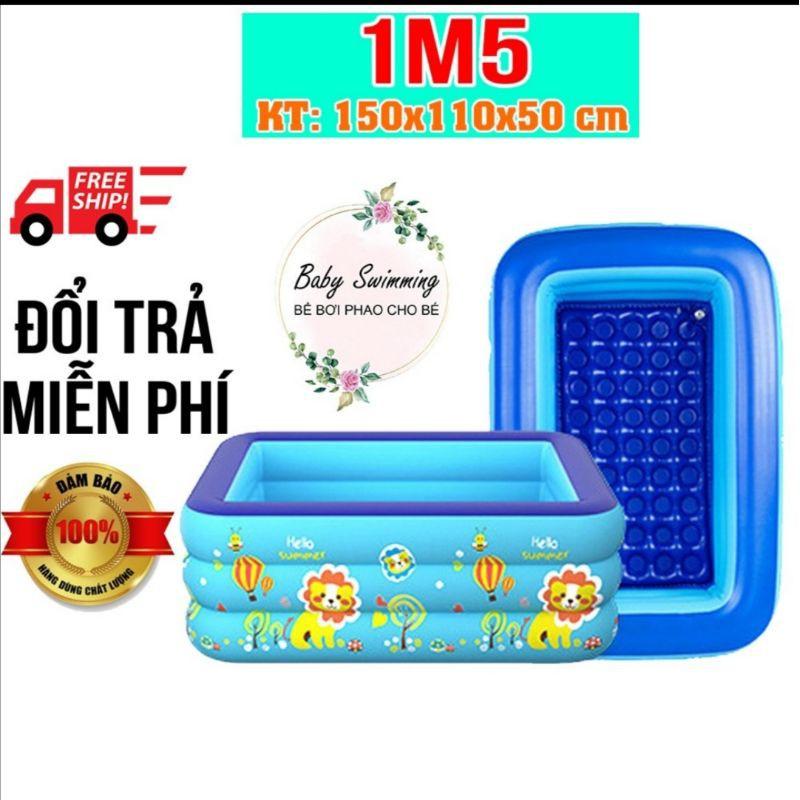 ( tặng bơm điện+combo ) Bể bơi cho bé loại 1m5 bể bơi trẻ em Hồ Bơi Trong Nhà, bể bơi gia đình Mua Ngay Bể Phao Bơi
