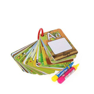 26 English Early Learning card Magic with 2 Pen letter 3D card Painting Board