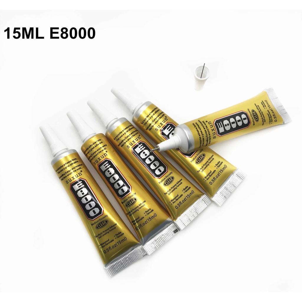 Keo dán E8000, B7000 15ml dùng để dán nắp lưng, màn hình điện thoại, dán chống nước, dán linh kiện điện tử