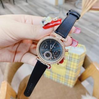 Đồng hồ nữ GUOU mặt đính đá sang trọng dây da mềm mại cực đẹp - Tặng kèm hộp và Pin - két Shop