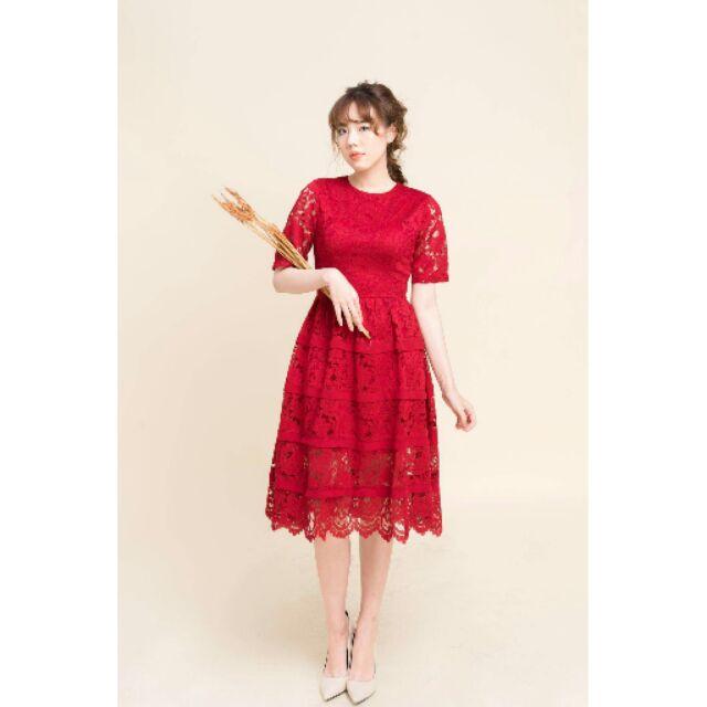 Thanh lý đầm ren đỏ hàng thiết kế - 2428209 , 161234365 , 322_161234365 , 500000 , Thanh-ly-dam-ren-do-hang-thiet-ke-322_161234365 , shopee.vn , Thanh lý đầm ren đỏ hàng thiết kế
