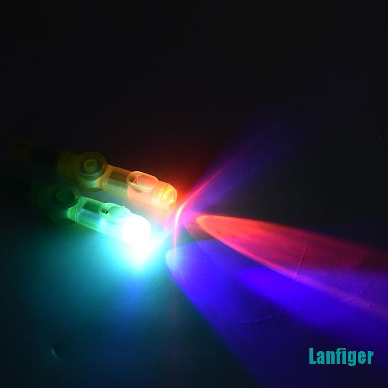 【Lanfiger】Interesting Toy Fingertip Rotating spinner Gyro toy Pen Led Luminous Gyro Pen