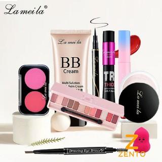 Bộ trang điểm đầy đủ Lameila 8 món bộ make up chuyên nghiệp cá nhân đầy đủ tặng kèm bông mút trang điểm ZENTO