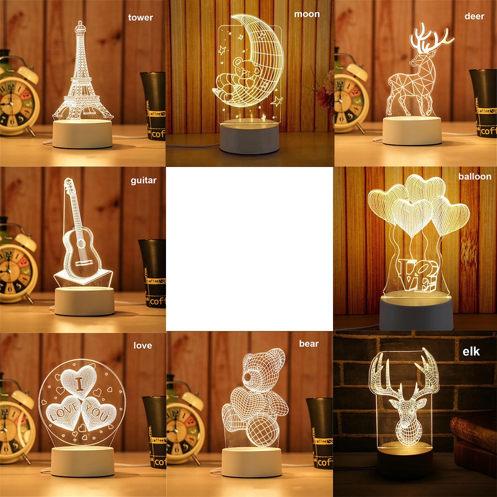 Warm Energy Saving Xmas Party Room Decorative Christmas Gift 3D LED Light