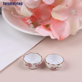 【FSTTTOP】1:12 Miniature Furniture Vintage Dessert plate DIY Miniatures For Dol