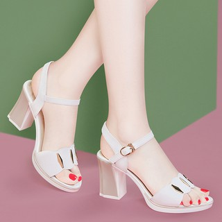 Giày Sandal Đính Đá Xinh Xắn Theo Phong Cách Hàn Quốc 2020 Dành Cho Nữ