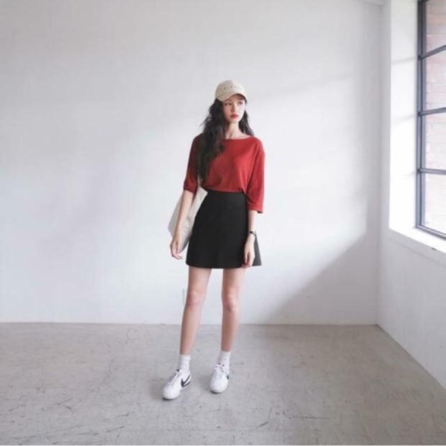 717652140 - Chân váy chữ A đen có ảnh thật