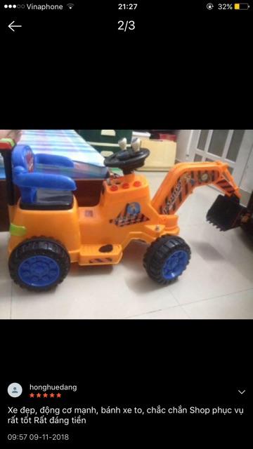 Xe cẩu điện size đại mẫu mới nhất dành cho bé