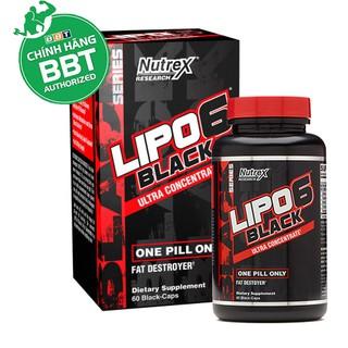 Đốt mỡ Nutrex Lipo 6 Black Fat Burner chính hãng BBT