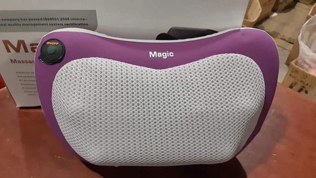 Gối matxa 8 bi và 6 bi Magic Massager Pillow