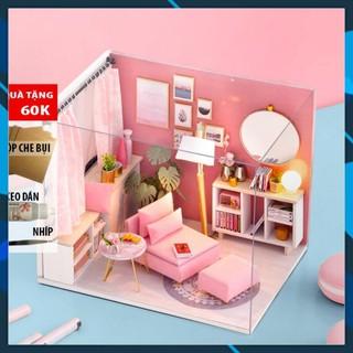 Mô hình nhà búp bê gỗ DIY Nhà búp bê lắp ghép Happy Time H017 Toy World thumbnail