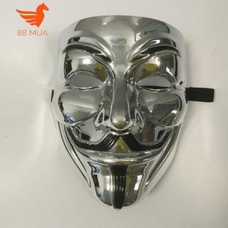 mặt na hacker halloween Anonymous màu Bạc-i49