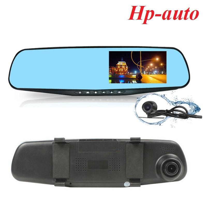 Gương chiếu hậu tích hợp camera hành trình HD kèm camera lùi Hp