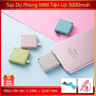 Sạc Dự Phòng Mini 3000mah - MI30- TẶNG QUẠT MINI