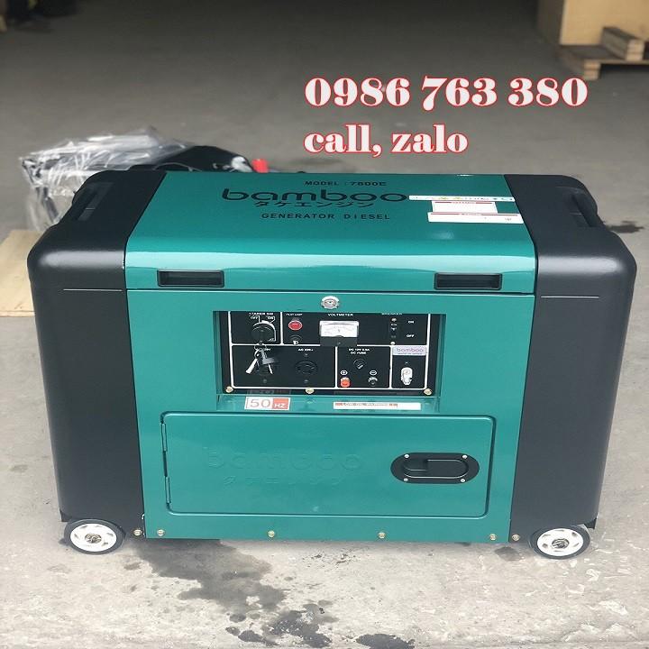 Máy phát điện Bamboo 7800E chính hãng giá rẻ tại Hải Phòng