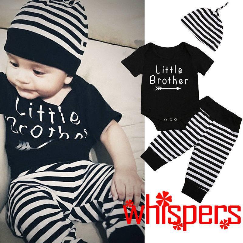 Set quần yếm + quần dài + mũ in hoạt hình dễ thương cho trẻ sơ sinh