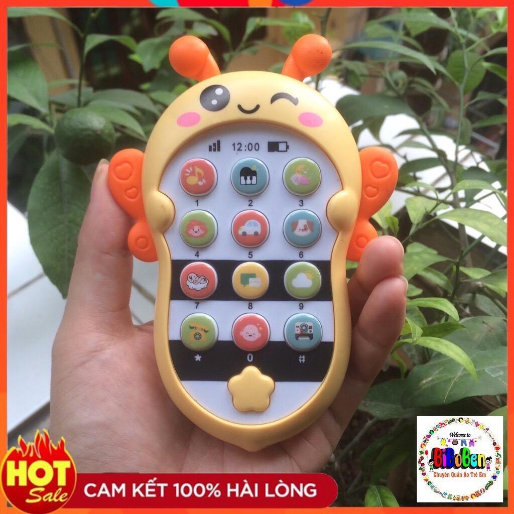 Điện thoại đồ chơi phát nhạc hình con ong xịn sò có kèm pin cho bé