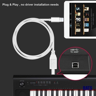 (RATS)Lightning to Type-B MIDI Keyboard Converter USB 2.0 Cable for iPhone 7 8 X iPad