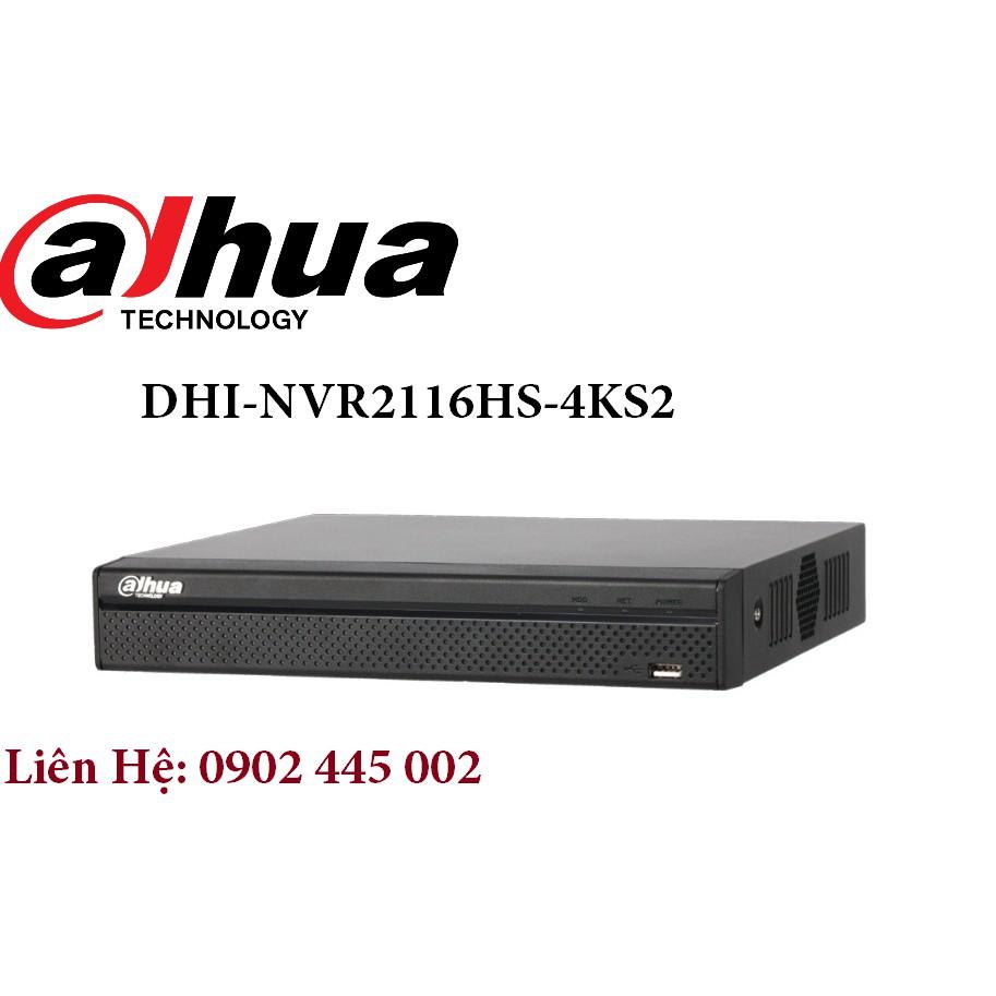 Đầu ghi hình Dahua 16 kênh hỗ trợ Camera Ip DHI-NVR2116HS-4KS2