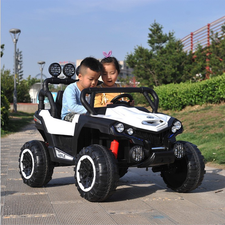 Ô tô xe điện siêu địa hình NEL 903 đồ chơi vận động cho bé 2 ghế 2 động cơ lớn