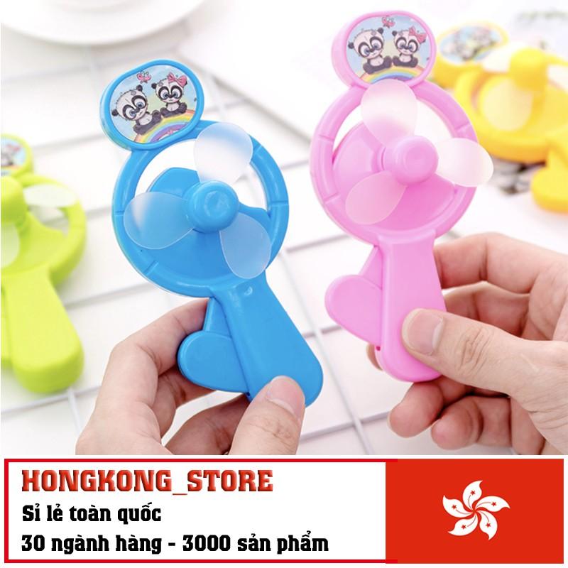 [ĐỒ CHƠI THÔNG MINH] Quạt cầm tay mini cho bé - Quạt cầm tay chạy bằng cơ nhiều màu độc đáo