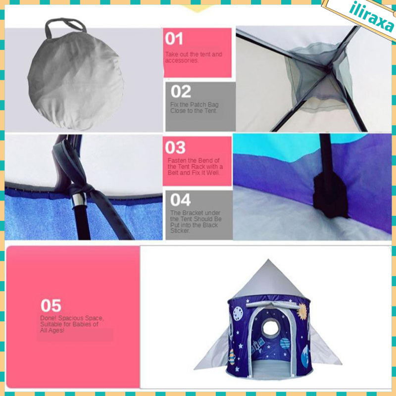 Foldable Kids Child Play Tents Nursery Playset Toys Ornaments Gifts Castle
