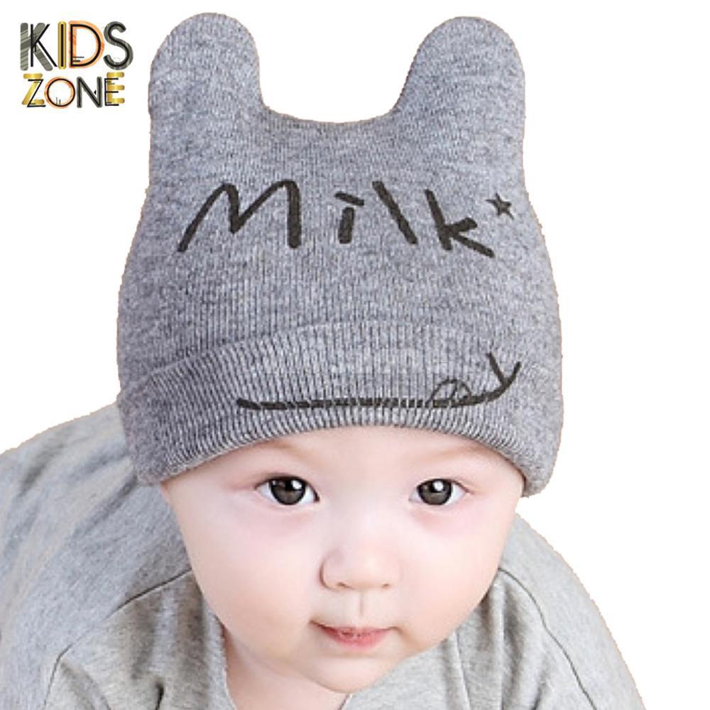 Mũ len cho bé ,nón len mèo Milk cho bé trai bé gái